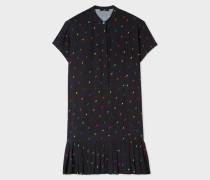 Black 'Ice Lolly' Print Pleated Dress