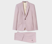 The Soho - Tailored-Fit Dusty Pink Wool-Mohair Suit