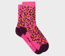 Pink Leopard Pattern Socks