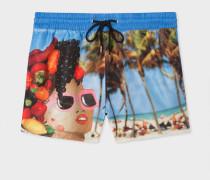 Blue Martin Parr 'Beach' Print Swim Shorts