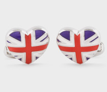 'Union Jack Heart' Cufflinks