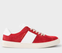 Red Suede 'Levon' Trainers