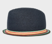 Slate Blue Trilby Hat With 'Artist Stripe' Brim