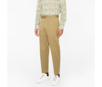 Standard-Fit Light Khaki Cotton-Linen Chinos