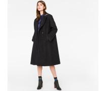 Black Bouclé Cocoon Coat