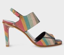 'Glitter Swirl' Leather 'Quince' Sandals