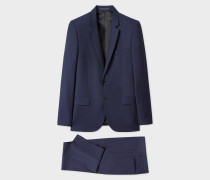Mid-Fit Navy Wool-Mohair Suit