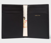 Black Leather 'Naked Lady' Credit Card Wallet