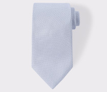 Sky Blue Pin Dot Silk Tie With 'Naked Lady' Lining