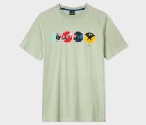 Green 'Shoe Shine' Print T-Shirt
