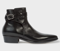 Black Leather 'Dylan' Boots