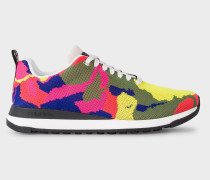Multi-Colour Camouflage 'Rappid' Knitted Trainers