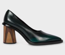 Dark Green Leather 'Mali' Heels