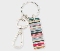 Multi-Coloured Stripe Tag Keyring