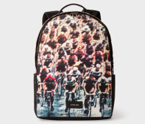 Canvas 'Cycling' Print Backpack
