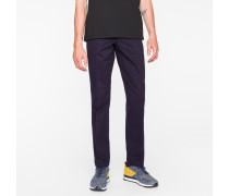 Mid-Fit Navy Stretch-Cotton Chinos