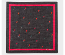 Black 'Ice Lolly' Print Pocket Square