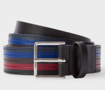 Black Colour Band Leather Belt