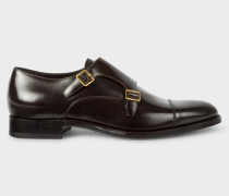 Dark Brown Calf Leather 'Albemarle' Double Monk-Strap Shoes