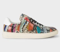 'Snake Swirl' Leather 'Levon' Trainers