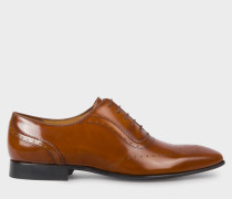 High-Shine Tan Leather 'Adelaide' Brogues