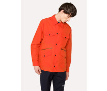 Lightweight Orange Cotton-Blend Field Jacket