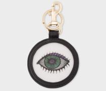 'Eye' Motif Lenticular Leather Keyring