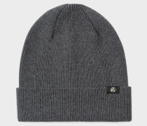 Grey Merino Wool Beanie Hat