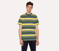 Yellow And Slate Blue Stripe T-Shirt