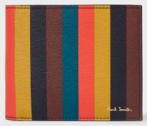 Bright Stripe Leather Billfold Wallet