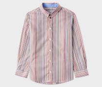 Boys' 2-6 Years Signature Stripe Cotton 'Per' Shirt