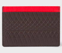 No.9 - Chocolate Brown Leather Card Holder With Multi-Coloured Card Slots