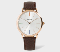 Unisex White, Rose Gold And Brown 'Ma' Watch
