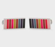 Muted Mini-Stripe Cufflinks