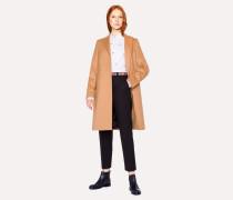 Camel Wool-Cashmere Epsom Coat