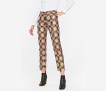 Pink And Gold 'Tapestry' Jacquard Trousers