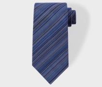 Navy Signature Stripe Silk Tie