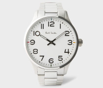 White And Stainless Steel 'Tempo' Watch