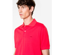 Slim-Fit Red Cotton-Piqué Polo Shirt With Embroidered 'Lips'