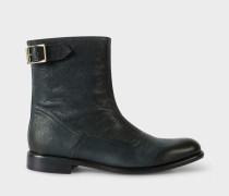 Navy Leather 'Thunder' Boots