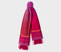 Red Ombré Lambswool And Cashmere Scarf