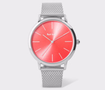 Special Edition 38mm Red And Stainless Steel 'Ma' Watch