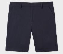 Navy Stretch-Cotton Shorts