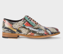 'Snake Swirl' Leather 'Bertie' Brogues