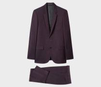 Mid-Fit Damson Wool-Mohair Suit