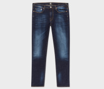 Slim-Fit 15oz Dark-Wash 'Low Stretch' Denim Jeans
