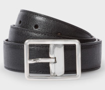 Black Saffiano Leather Cut-To-Fit Reversible Belt