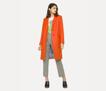 Orange Wool-Cashmere Epsom Coat