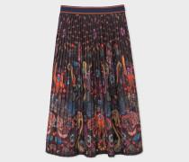 'Monkey' Print Pleated Skirt