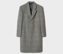 Grey Check Wool And Cashmere-Blend Epsom Coat
